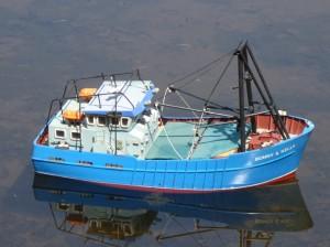 Bonny and Kelly Clam Trawler built by Kev Harris